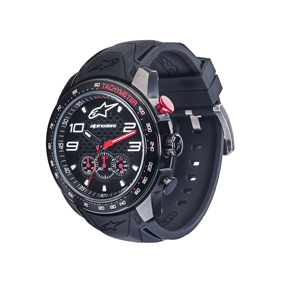 27b7d1d24 Alpinestars Hodinky Tech Watch Chrono černá/červená, pryžový pásek ...