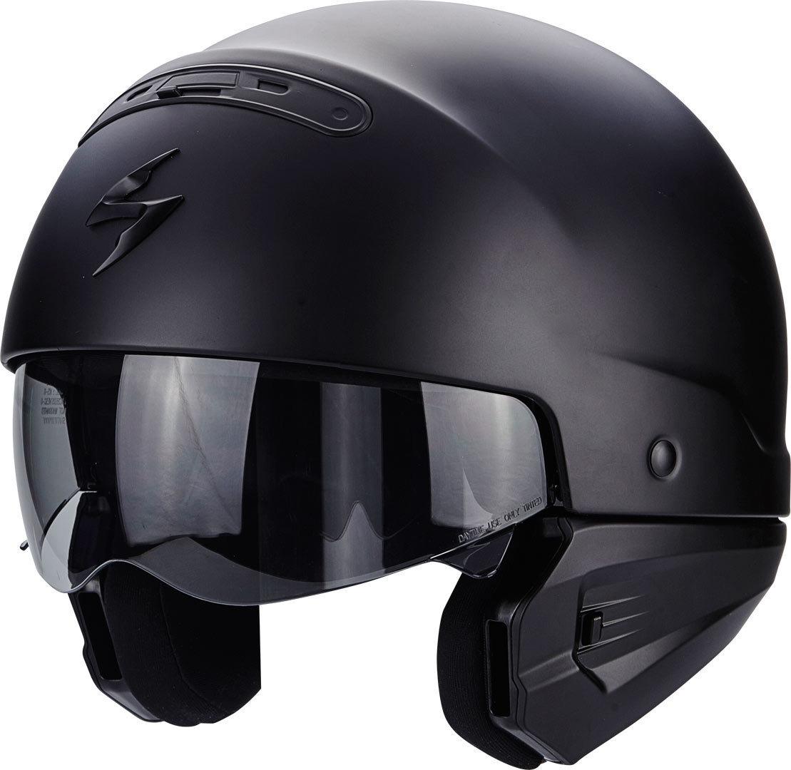 Scorpion EXO- COMBAT Solid černá matná Otevřená přilba  271d7c8e31